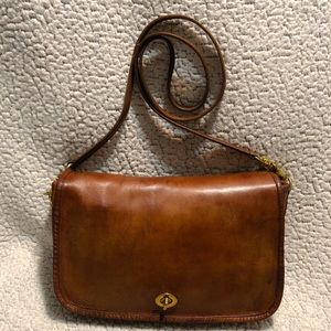 Coach Vintage Leather Crossbody Bag.